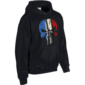 Sweat-Shirt Capuche Punisher Tricolore Army Design