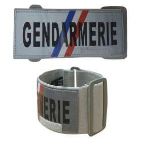 Brassard Gendarmerie Réfléchissant Gris Patrol Equipement