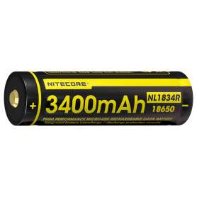 Batterie Rechargeable 18650 3.6V 3400mAh Micro-USB Nitecore