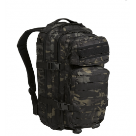 Sac US Assault Pack I Laser Cut Multitarn Black Mil-Tec