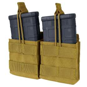 Double M14 Open Mag Pouch Coyote Brown Condor MA24