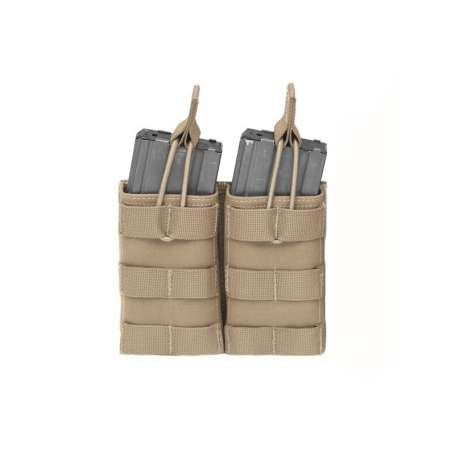 Porte chargeurs Double MOLLE Open M4 5.56mm Coyote Tan Warrior Assault Systems