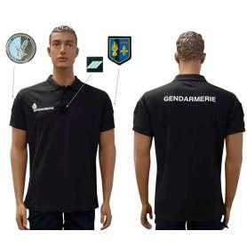 Polo Gendarmerie Cooldry Homme Noir Patrol Equipement