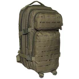 Sac à dos US Assault Pack I Laser Cut Olive MFH 30335B