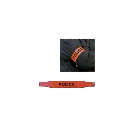 Brassard Auto-Agrippant POLICE orange Patrol Equipement