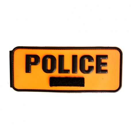 Brassard Gomme POLICE Orange