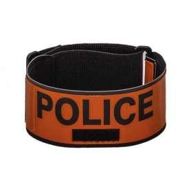 Brassard POLICE Rétroréfléchissant avec Porte-Matricule