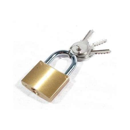 Cadenas laiton 3 clés 40 mm