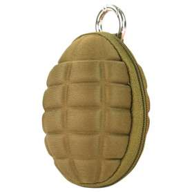 Porte-Clefs Grenade Coyote Brown