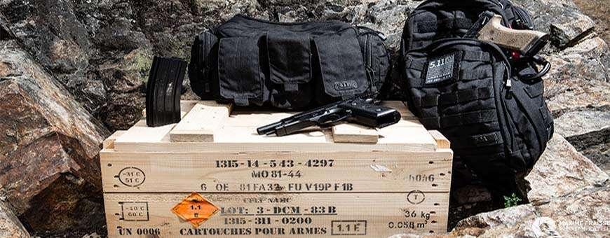 Equipement et accessoires pour le tir. Professionnels et particuliers